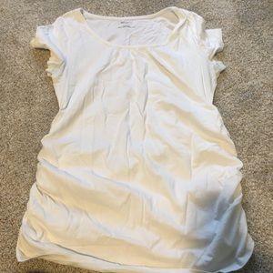 White maternity tee shirt